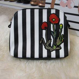 Nordstrom Cosmetics Bag Striped Poppy NEW!